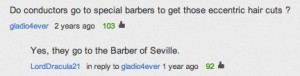 meme about where orchestra conductors get their haircuts: from the Barber of Seville